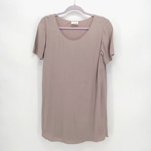 Wilfred Free Teigen T-Shirt Shift Dress in Ashen